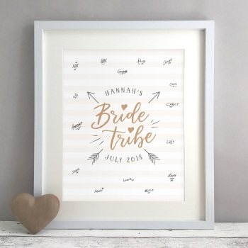 Bride Tribe Hen Party Personalised Guest Book Print Alternative