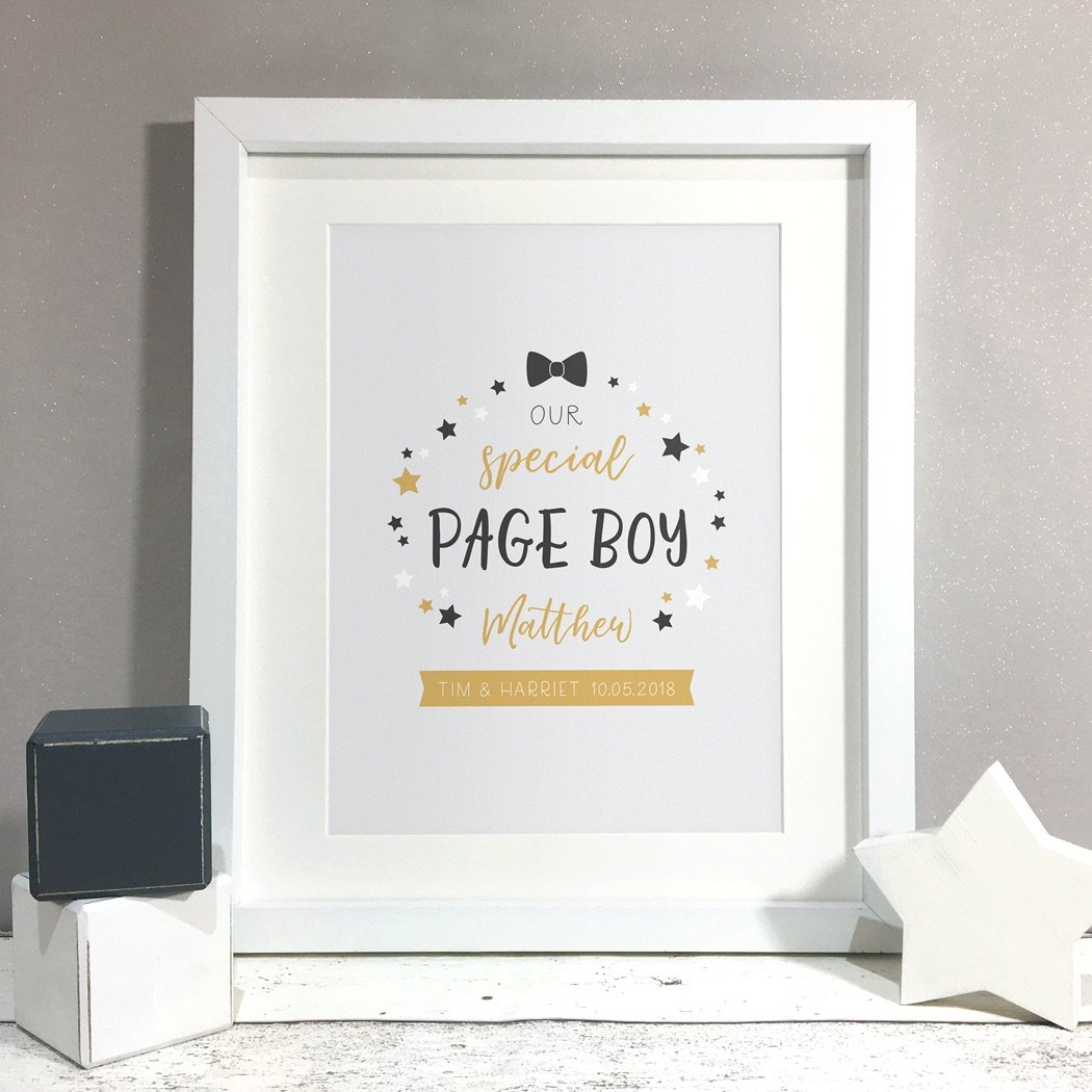 Special Page Boy Gift Print