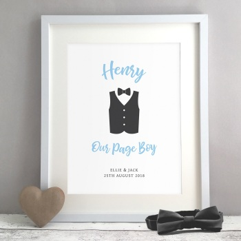 Our Page Boy Gift Personalised Print