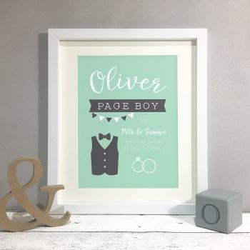 Page Boy Wedding Gift Personalised Print