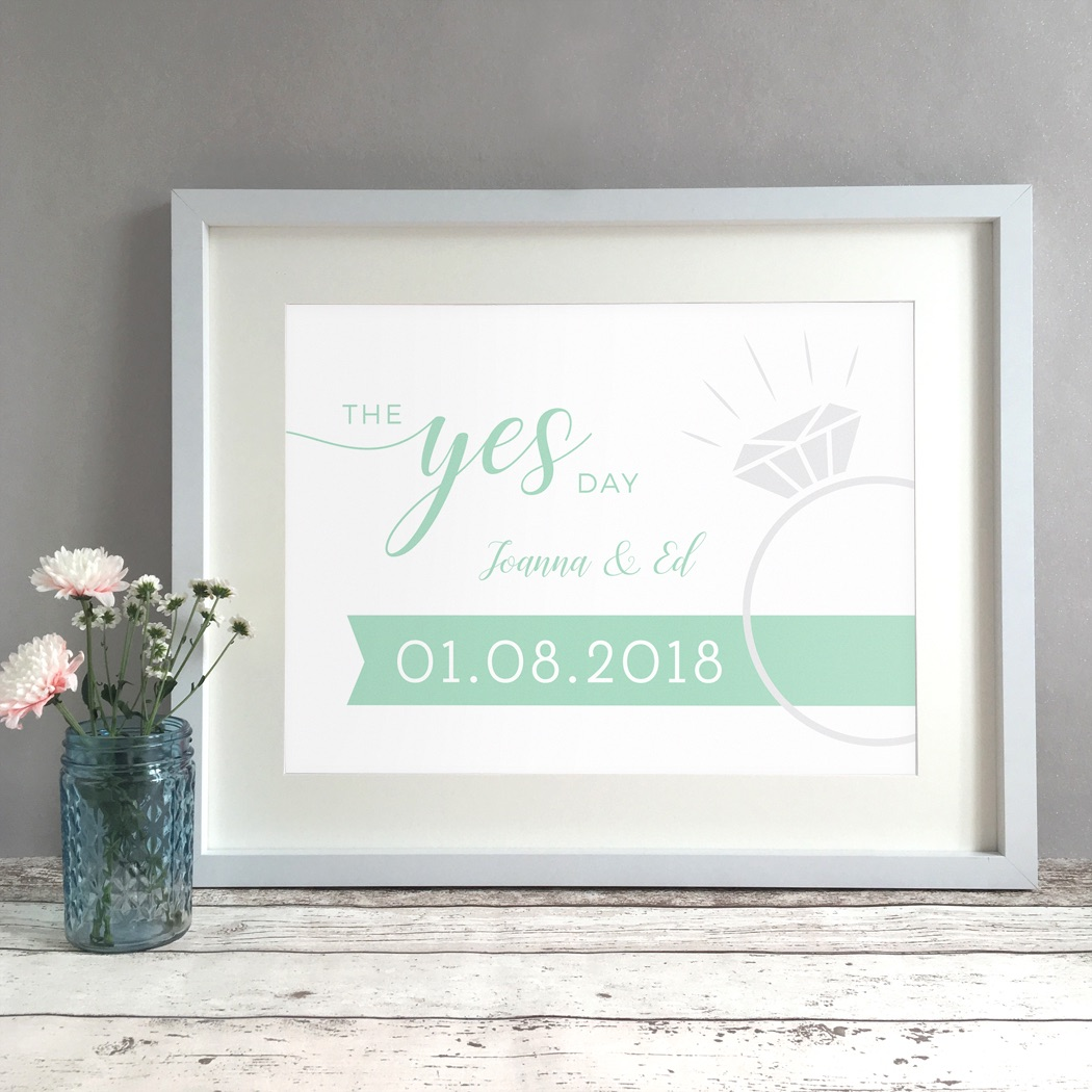 The Yes Day Engagement Gift Personalised Print