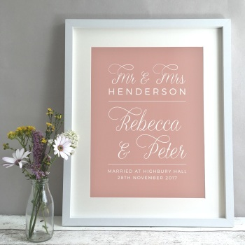 Classic Personalised Wedding Gift Print