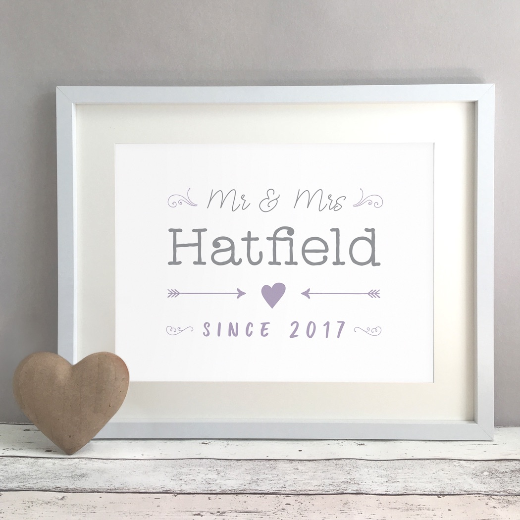 Sketched Personalised Wedding Gift Print