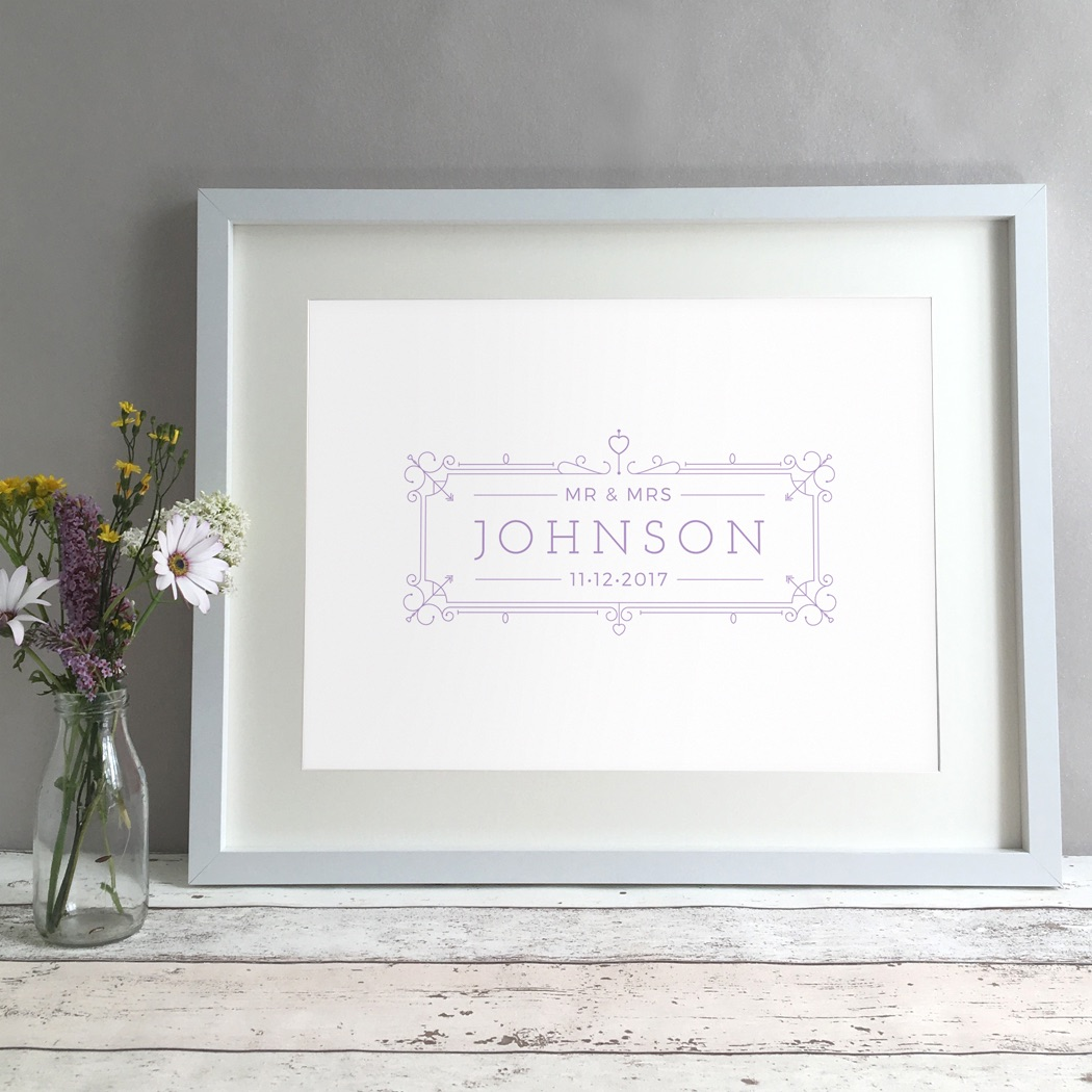 Ornate Box Personalised Wedding Gift Print