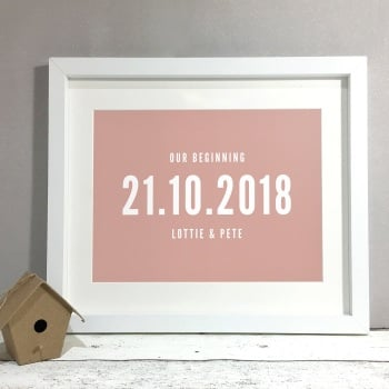 Our Beginning Personalised Wedding Gift Print