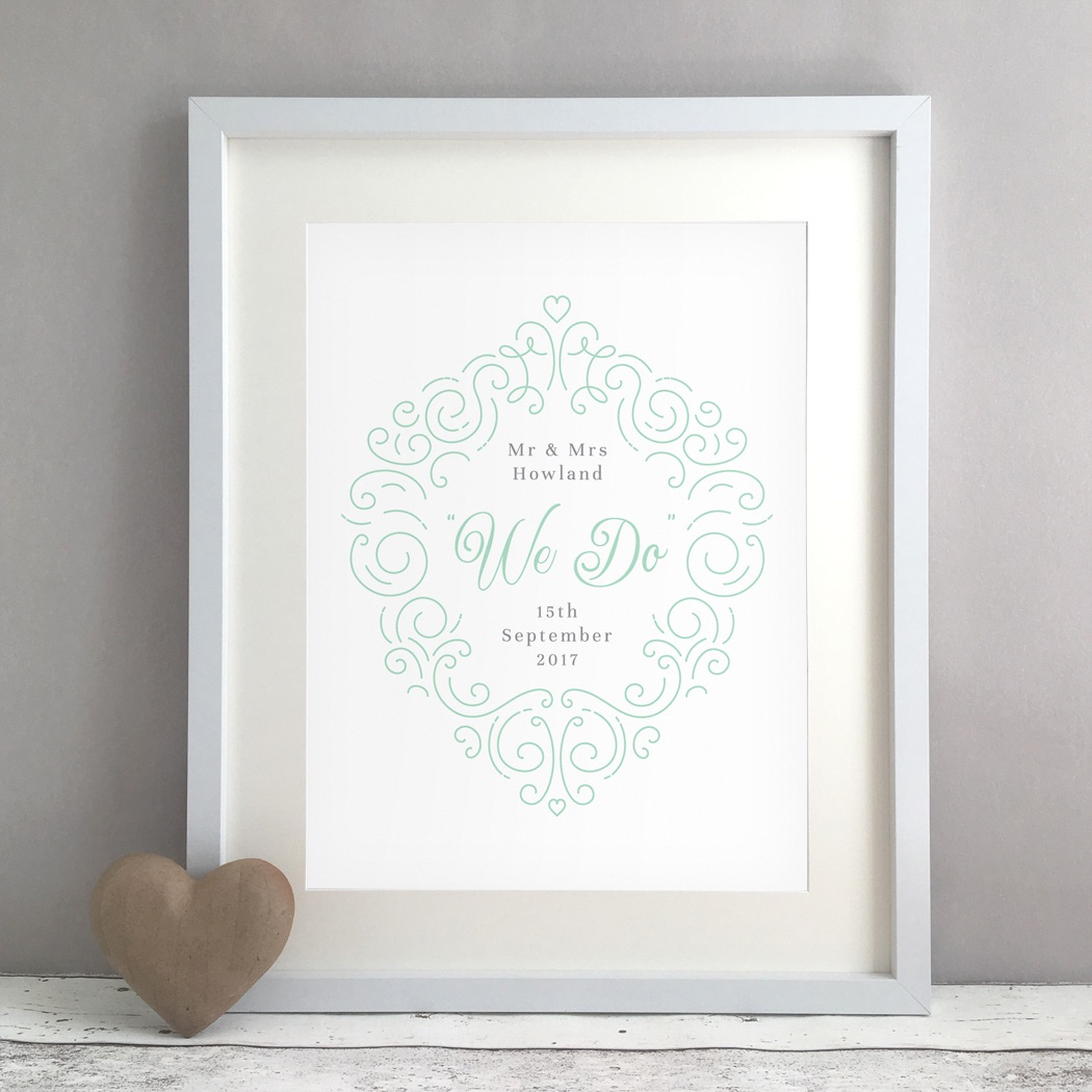 We Do Personalised Wedding Gift Print