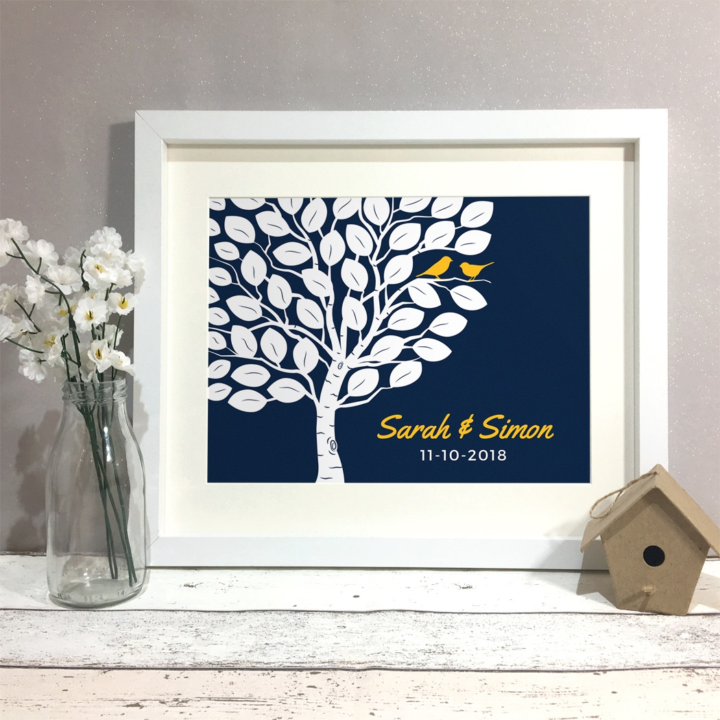 Tree Personalised Wedding Gift Print