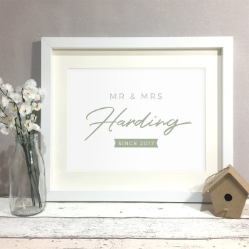 Signature Personalised Wedding Gift Print