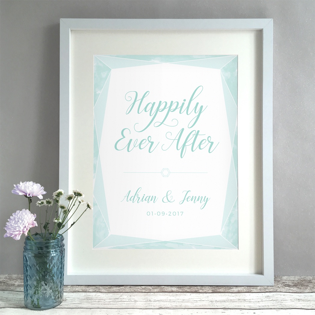 Gem Personalised Wedding Gift Print