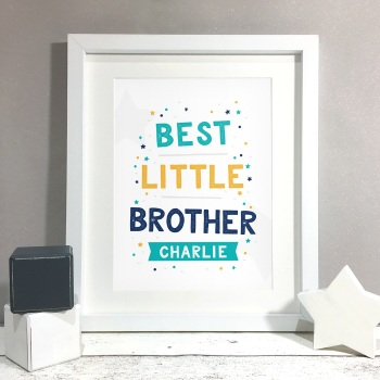 Best Brother Kids Room Personalised Name Print