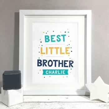 Best Brother Kids Room Personalised Name Print