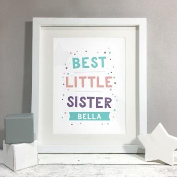 Best Sister Kids Room Personalised Name Print