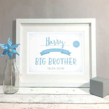 Promoted To Big Brother Kids Personalised Name Print
