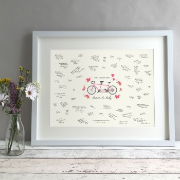 Tandem Personalised Wedding Guest Book Print Alternative