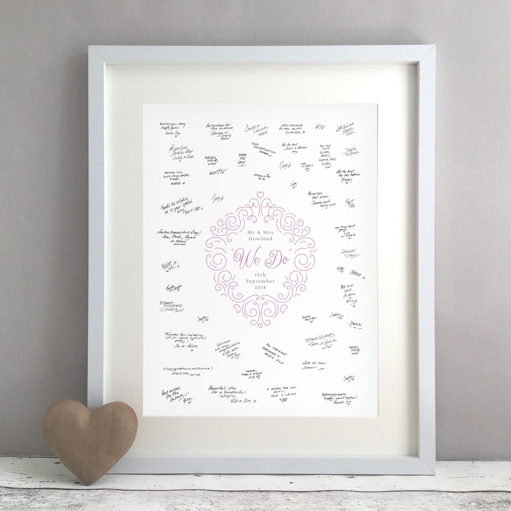 We Do Personalised Wedding Guest Book Print Alternative