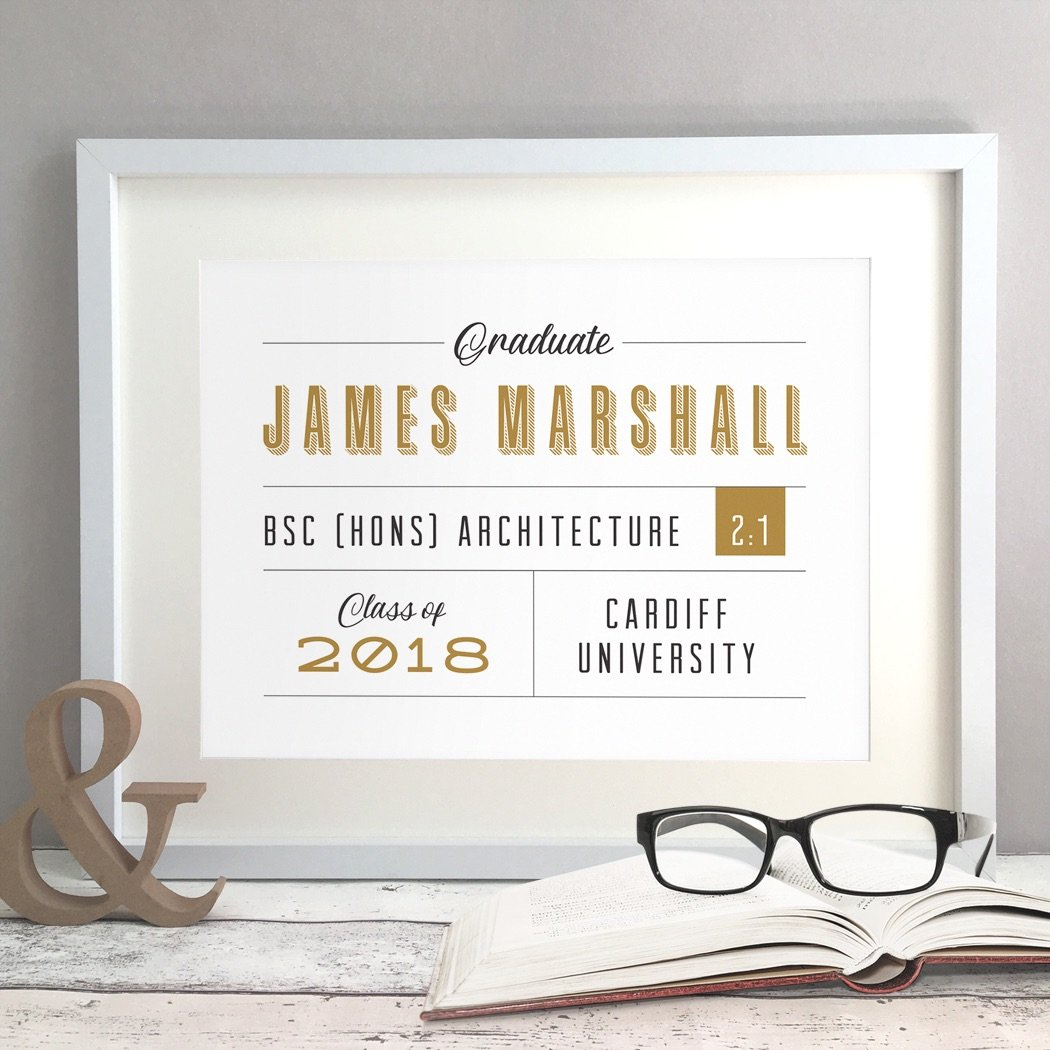 Graduation Gift Personalised Print