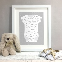 Baby Grow Personalised Baby Shower Guest Book Print Alternative