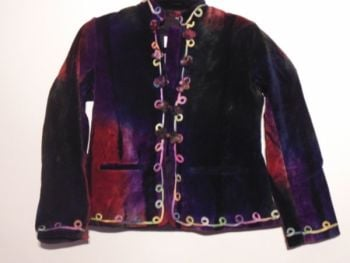 Embroidered Velour Childs Jacket by Jordash