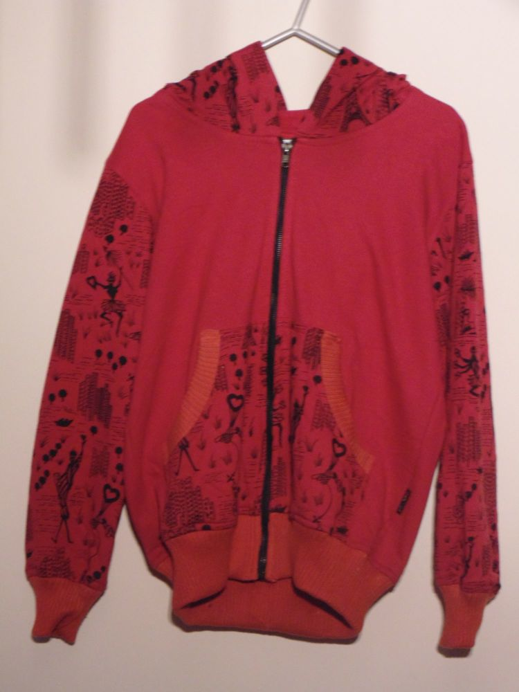 Red childrens hooded jacket by Gringo
