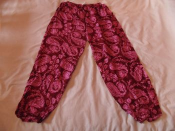Paisley design rayon trousers