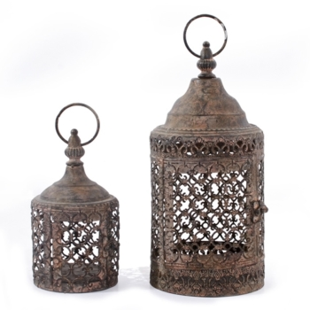 Vintage Style Moorish Lanterns - Set of 2
