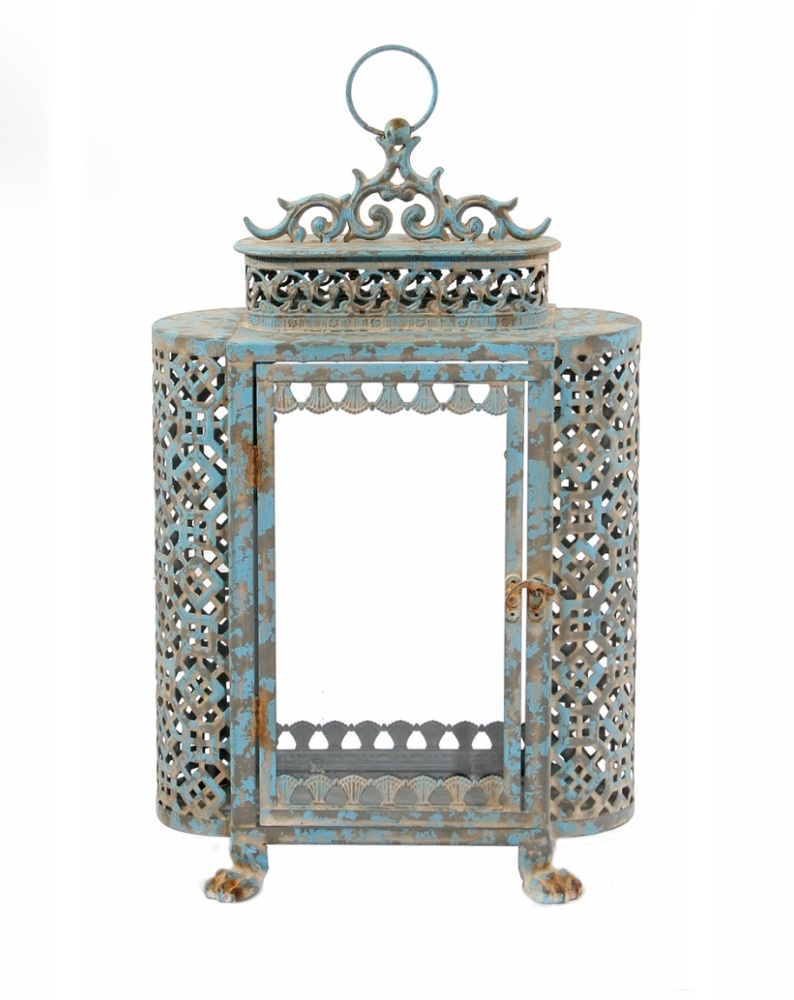 French Blue Lantern - Large