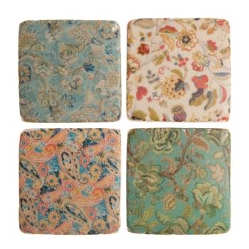 Edwardian Ceramic Tile Coasters