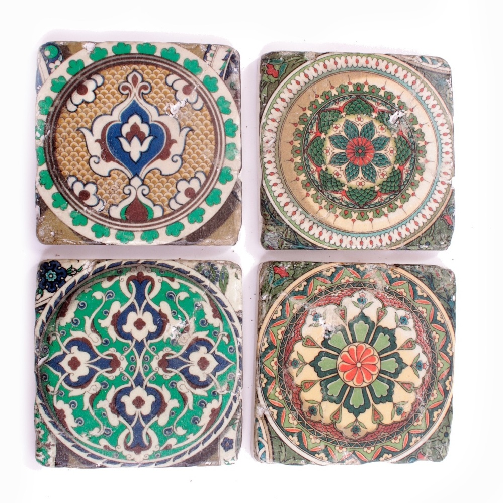 Moroccan Style Ceramic Tile Coasters