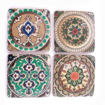 Moroccan Ceramic Tile Coasters