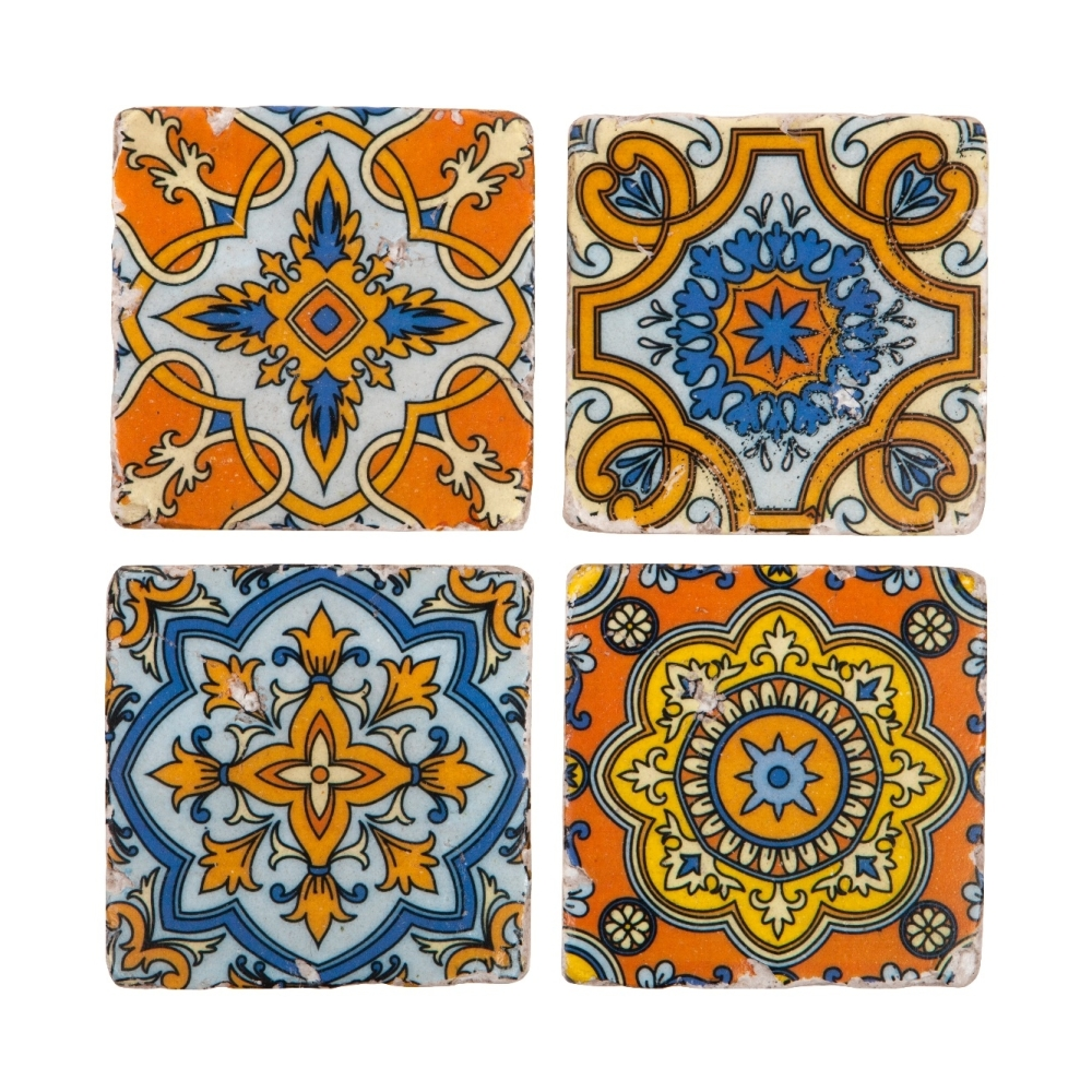 Arabesque Ceramic Tile Coasters