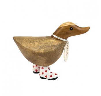 DCUK Red Hearts Welly Duck - 12cm Ducky