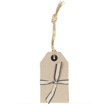 East of India Pack of 6 Large Brown Tags