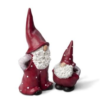 Naasgransgarden Santa Elmer & Max Christmas Ornament Set - 17cm