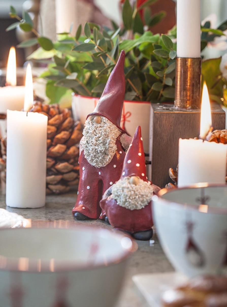 Nääsgränsgården 17cm Santa Elmer & Max Ornaments Set of 2