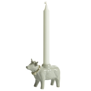 Naasgransgarden Christmas Cow Candle Holder