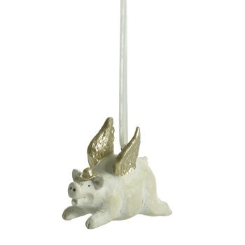 Naasgransgarden Flying Pig Christmas Decoration