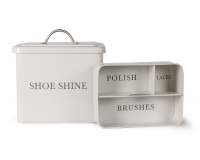 Garden Trading Vintage Style Shoe Shine Box - Chalk