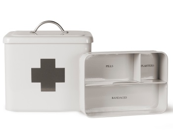 Garden Trading Vintage Style First Aid Box - Chalk