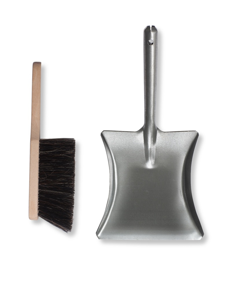 Garden Trading Galvanised Dustpan and Brush
