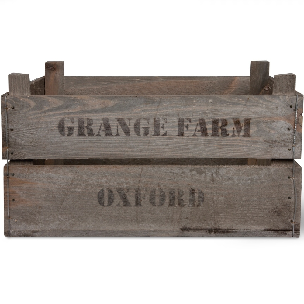 Garden Trading Wooden Grange Farm Fruit Box