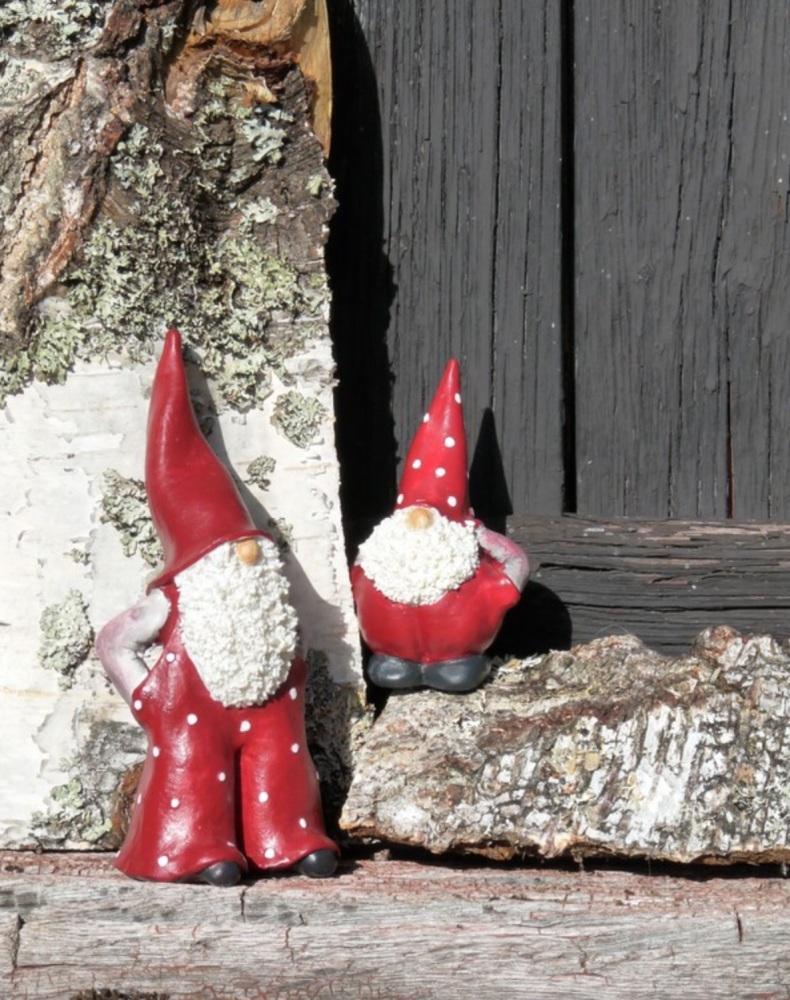 Naasgransgarden Large Santa Elmer and Max Ornaments - Set of 2