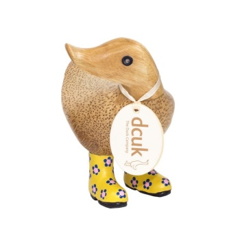 DCUK Yellow Flower Welly Ducky - 12cm