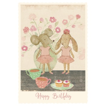 Maileg Ballerina Mouse and Bunny Card