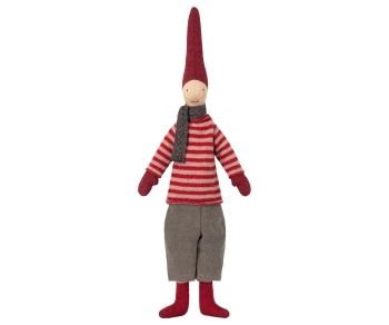 Maileg Mini Christmas Pixy Boy - Red Stripe Jumper