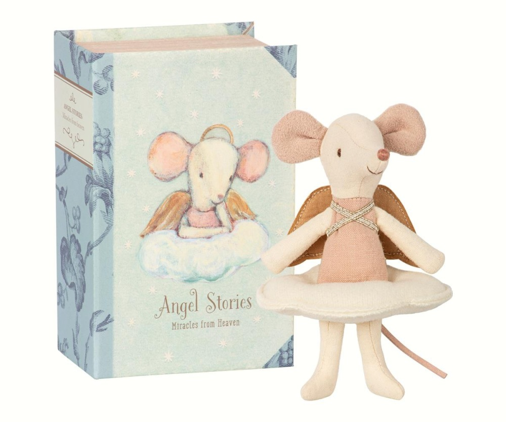 Maileg Angel Big Sister Mouse in Book