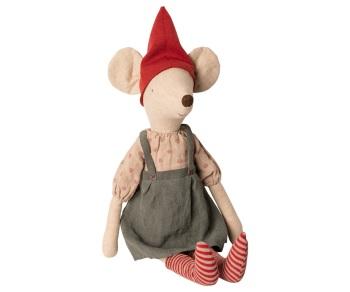 Maileg Christmas Mouse, Maxi - Girl