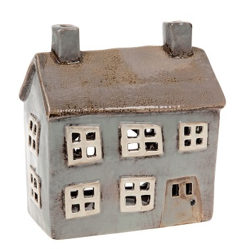 Glazed Pottery Tealight House - Large
