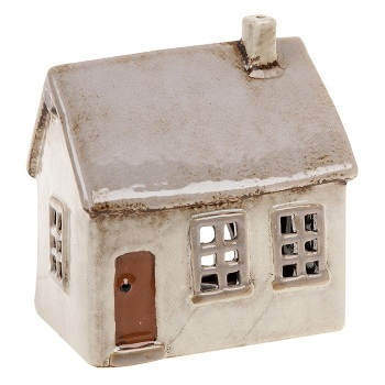 Glazed Pottery Tealight House - Small
