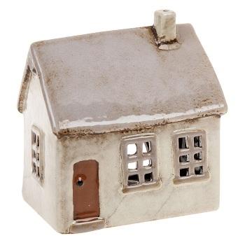 Glazed Pottery Tealight House - Small