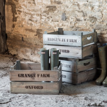Garden Trading Wooden Ridgeway Farm Fruit Box - AVAILABLE TO ORDER